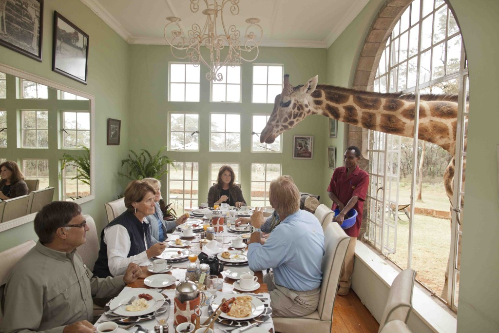 Giraffe Manor - breakfast with giraffes copy